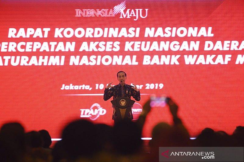 Jokowi: penting naikkan literasi keuangan dorong ekonomi mikro
