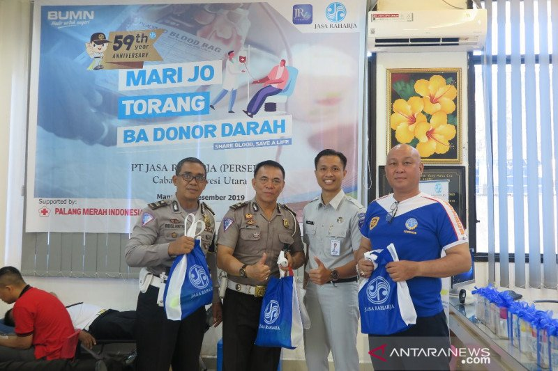 Jasa Raharja Sulawesi Utara gelar bakti sosial donor darah