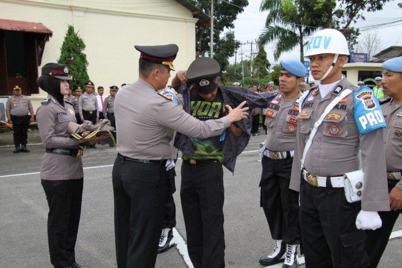 Terlibat penyalahgunaan narkoba, satu personel Polres Bukittinggi dipecat