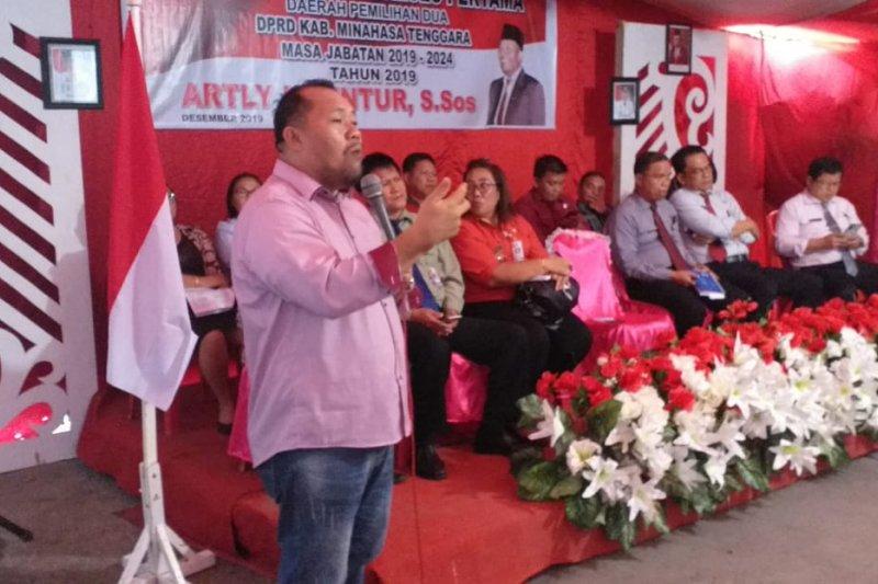 Anggota DPRD Minahasa Tenggara serap aspirasi warga