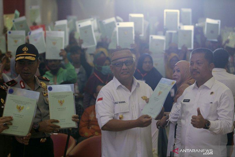 Kanwil BPN Gorontalo bagikan 1.000 sertifikat gratis