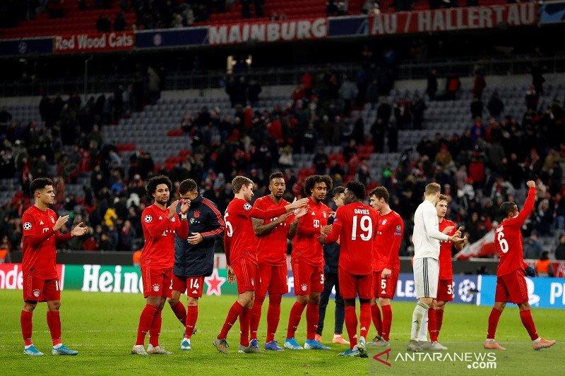 Hasil laga pemangkus Grup B: Muenchen pertama kalinya sapu bersih kemenangan