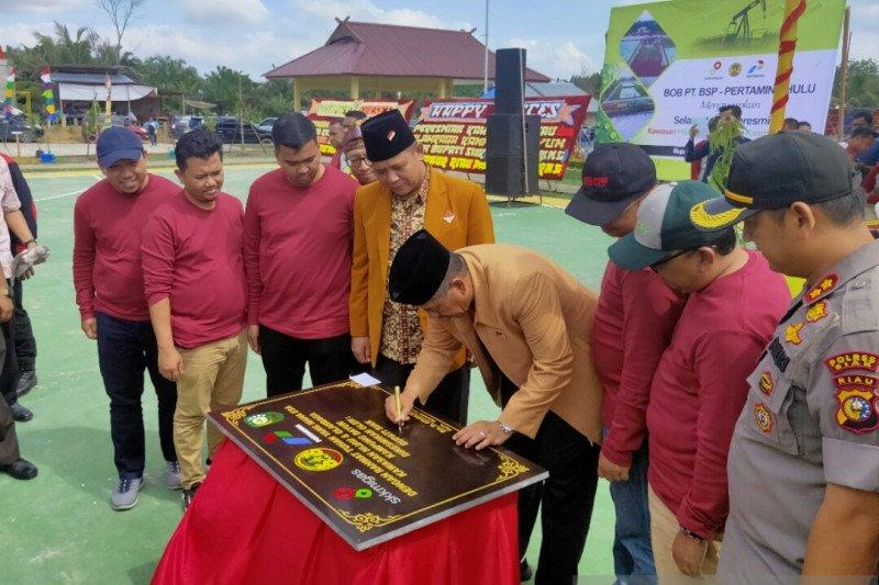 BOB PT BSP-Pertamina Hulu resmikan kawasan hijau dan olahraga Kampung Dayun