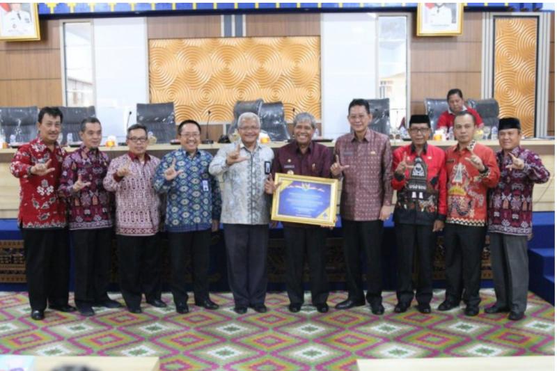 Pemkab Lampung Tengah raih penghargaan WTP dari Kementerian Keuangan
