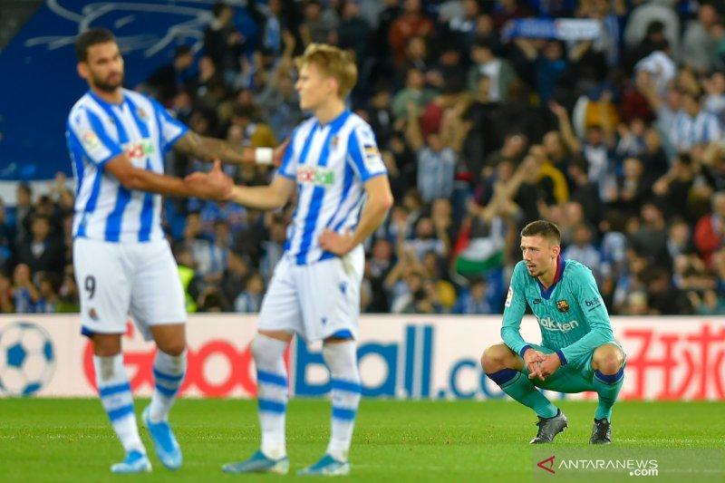 Sociedad menghentikan empat kemenangan beruntun Barcelona