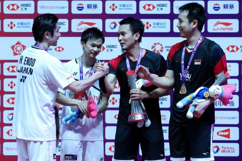 Hendra/Ahsan tidak sangka catatkan gelar ketiga di World Tour Finals