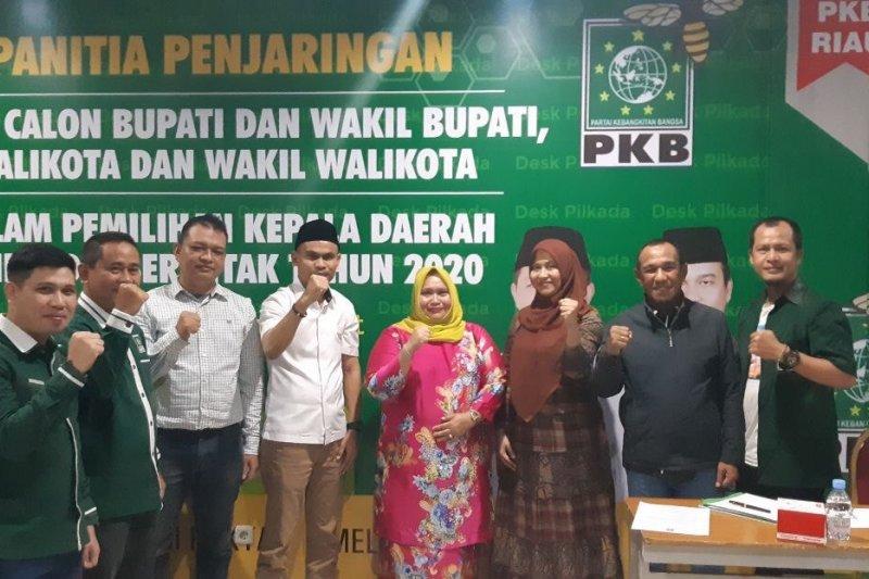 Wawancara di DPW PKB Riau, Kasmarni harap dukungan masyarakat Bengkalis