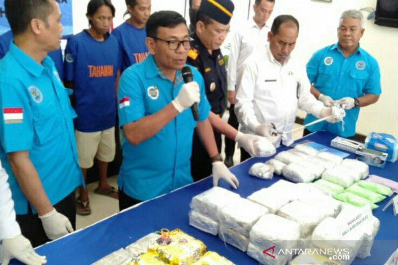 BNN Sumsel gagalkan peredaran 36 kg sabu-sabu asal Malaysia