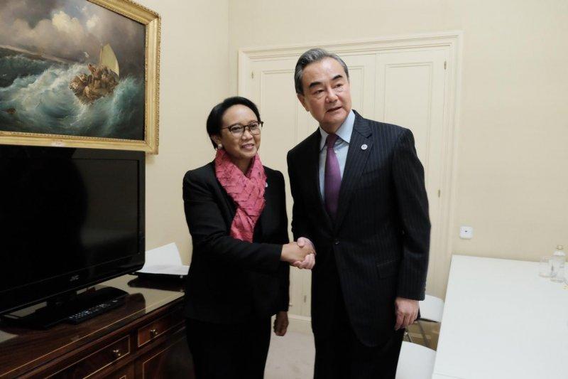 Menlu Retno sebut 2020 momentum penting hubungan RI-China