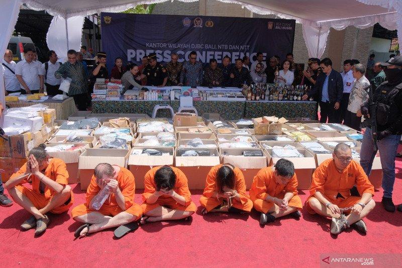 Bea Cukai Bali tangkap enam WNA penyelundup narkotika