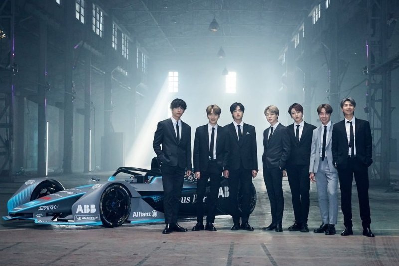 BTS terpilih sebagai wajah baru kejuaraan Formula E 2020