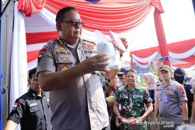 Polda Jawa Timur musnahkan 28 kilogram shabu-shabu