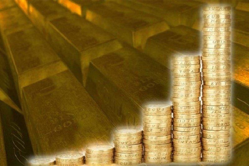 Harga emas terus naik hingga 10 kali berturut-turut