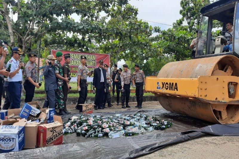 Polres Barito Timur tetap gencar menertibkan minuman keras