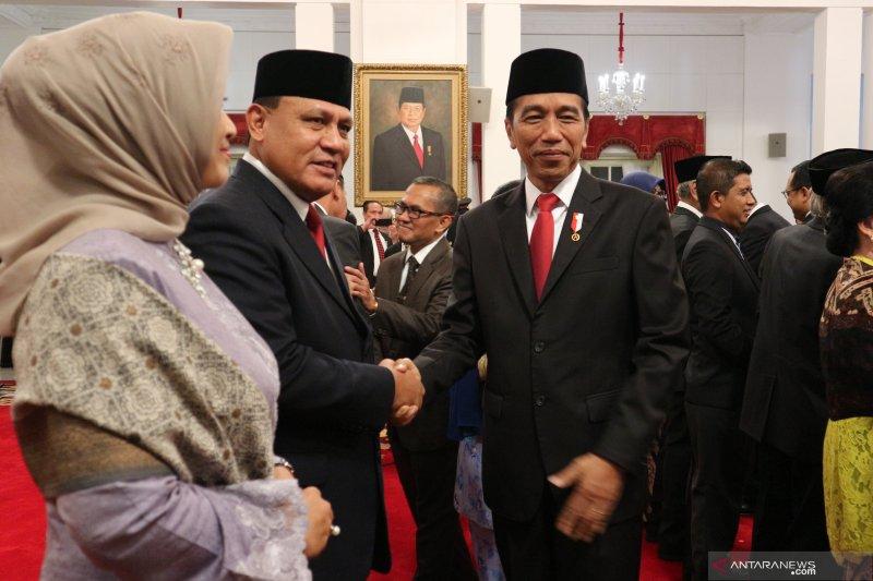 Presiden Jokowi harap pemberantasan korupsi sistematis lewat Dewas KPK