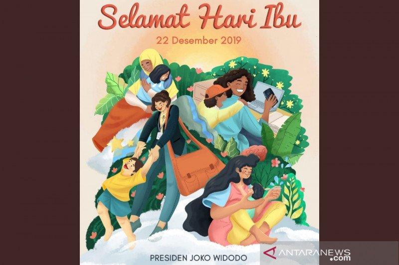 Jokowi: Wajah Indonesia dibentuk oleh kaum ibu