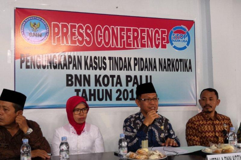 BNN Palu ungkap lima kasus narkoba sepanjang 2019