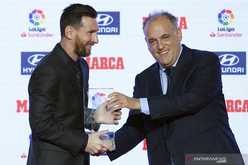 Tebas jabat lagi presiden Liga Spanyol