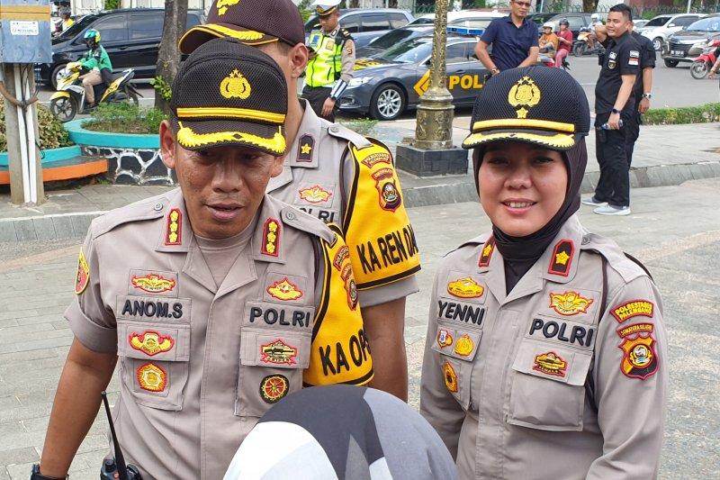 Polrestabes Palembang jaga ketat gereja amankan Natal