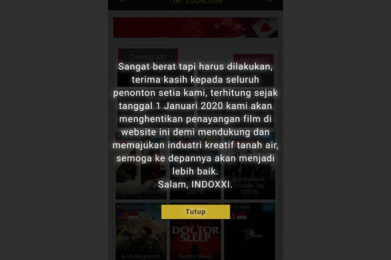 Situs Indoxxi ditutup, netizen berduka