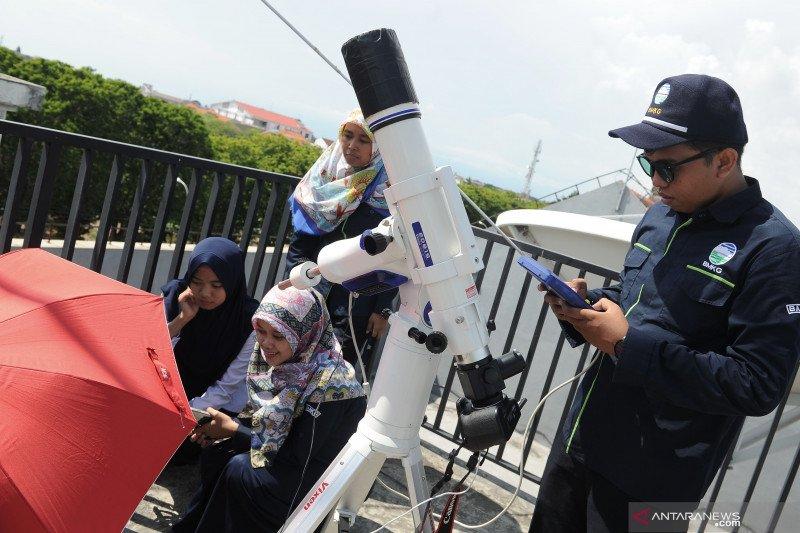 Pengamatan GMC di BMKG Denpasar gunakan teleskop berfilter khusus