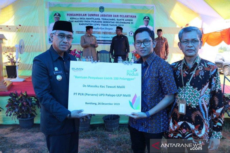 PLN terangi lima desa di Kabupaten Luwu Timur