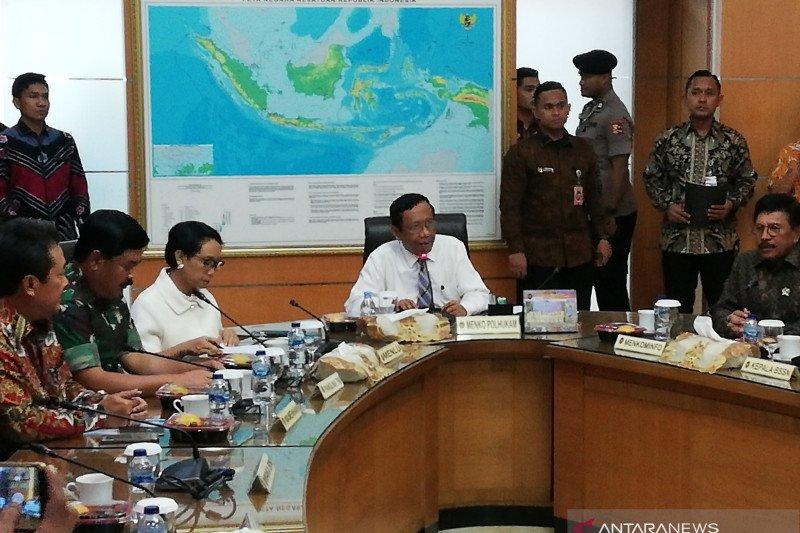 Kumpulkan menteri, Menko Polhukam bahas kondisi perkembangan Papua