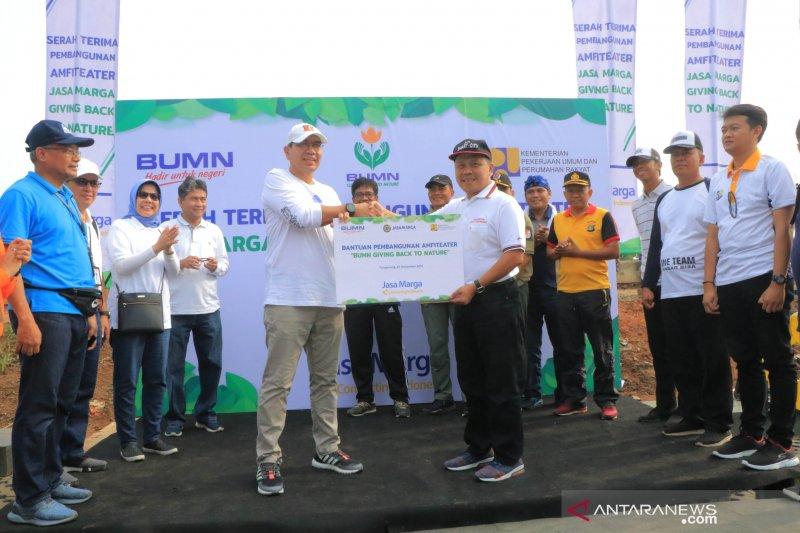 Jasa Marga serahkan lahan amfiteater di bantaran cisadane ke warga