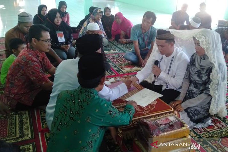 Seorang napi menikah dalam Lapas Muara Teweh