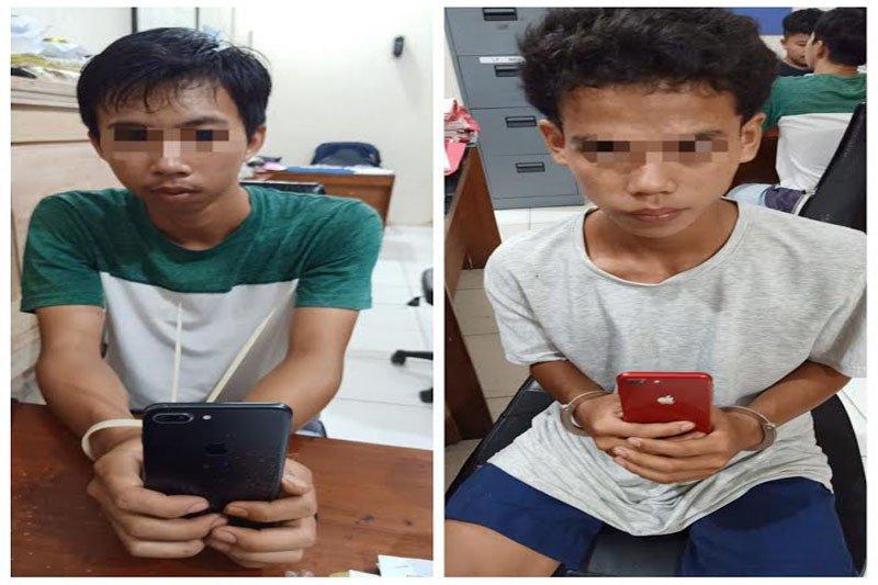 Polisi tangkap dua pencuri HP dalam boks sepeda motor