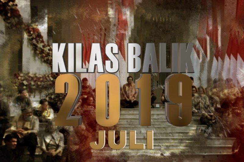 KILAS BALIK 2019 - JULI: Wafatnya Sutopo hingga pertemuan Jokowi-Prabowo  usai Pilpres