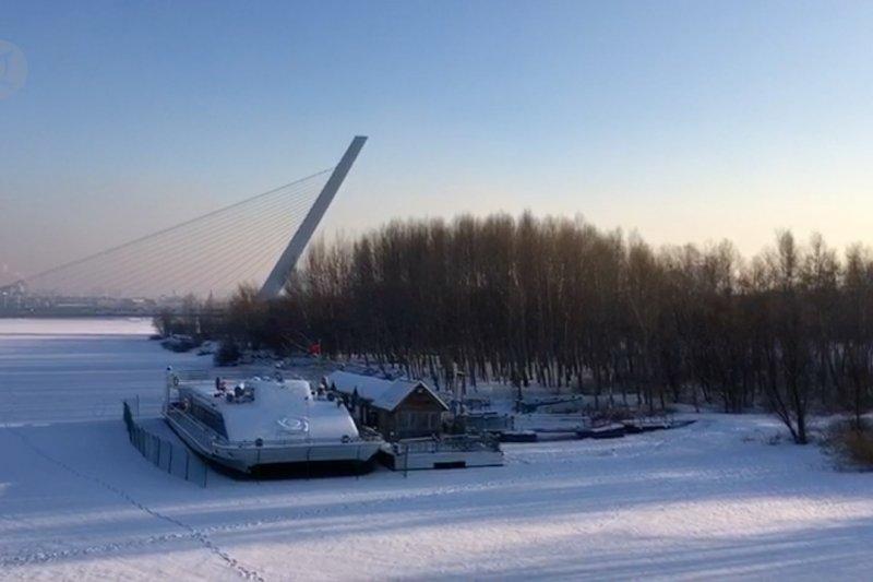 Wisata musim dingin di Harbin, China