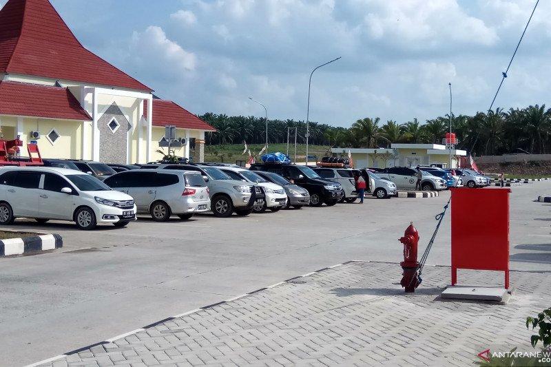Tol Trans Sumatra  Mesuji  terpantau  padat