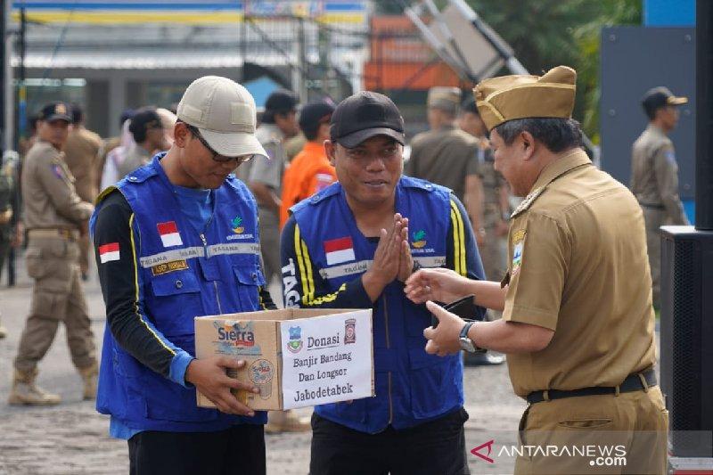 Tagana Garut menggalang dana untuk bantu korban banjir Jabodetabek