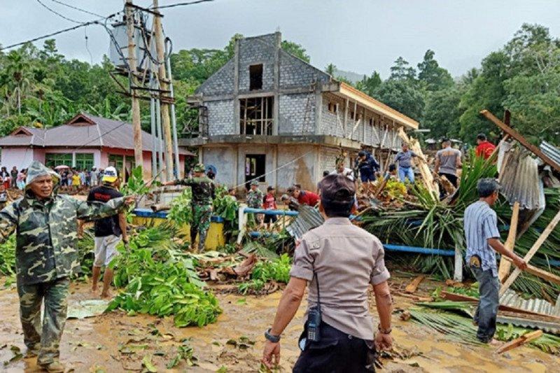 BSG Tahuna bantu korban banjir bandang Sangihe