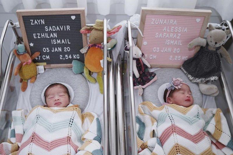 Syahnaz adik kandung Raffi Ahmad lahirkan anak kembar