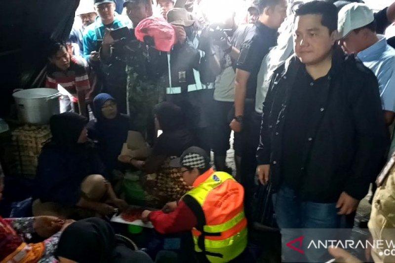 Menteri BUMN akan gelar rapat evaluasi bantuan bencana banjir