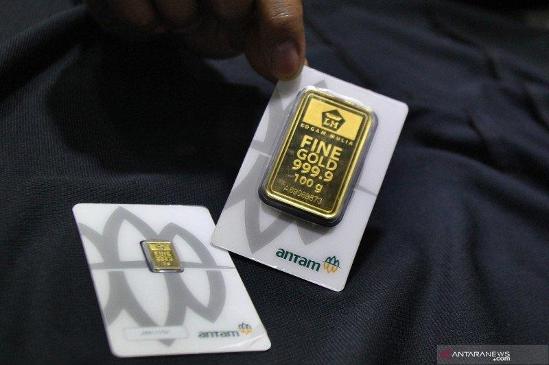 Harga emas Antam melonjak naik Rp6.000