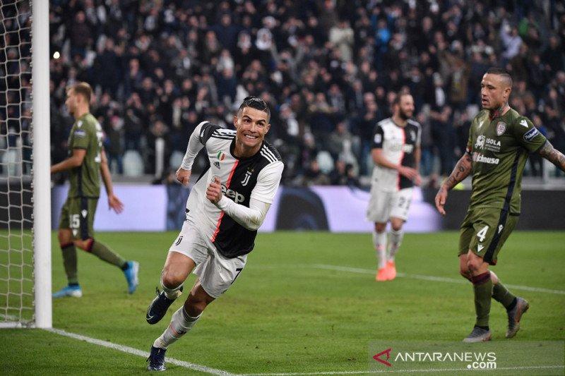 Cristiano Ronaldo ciptakan trigol, Juventus sementara puncaki klasemen