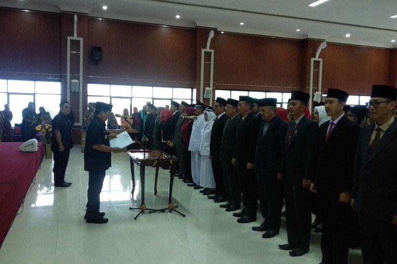 Wali Kota Bandarlampung lantik Pejabat Eselon II, III dan IV