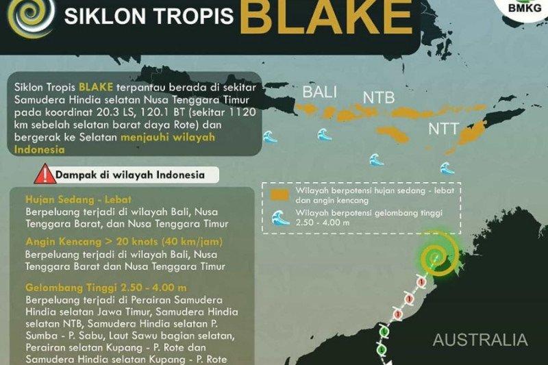 BMKG: Waspada siklon tropis di wilayah Indonesia pukul 01.00 WIB