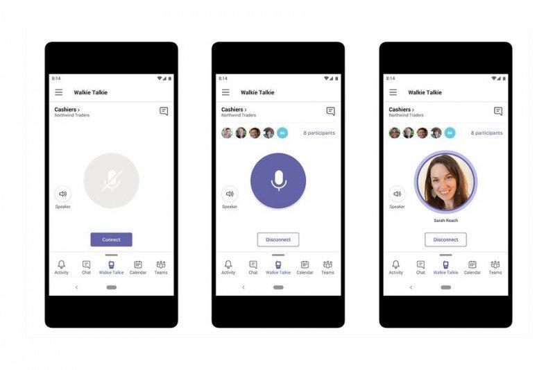 """HP Anda bisa berfungsi jadi """"walkie talkie"""" dengan platform Microsoft Teams"""