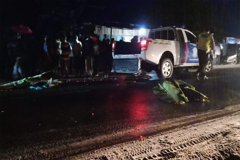 Pasutri pedagang sayur meninggal dunia tertabrak mobil