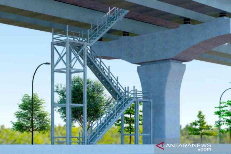 Delapan tangga darurat  dibangun di Tol Layang Japek