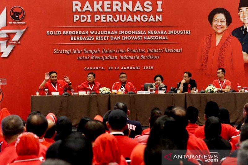Megawati dan Hasto pantau pelaksanaan Rakernas I PDIP di JIExpo Kemayoran