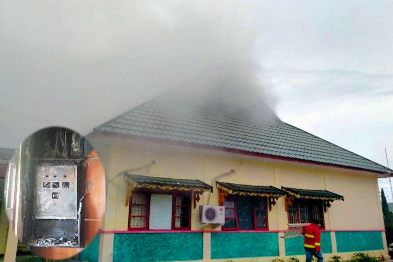 Kantor DPPKAD Pulang Pisau nyaris ludes terbakar