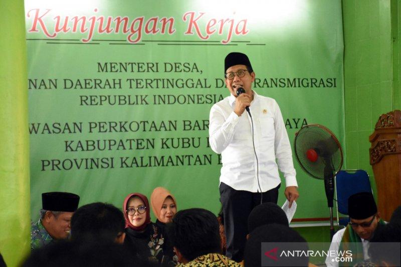Menteri ajak masyarakat Kubu Raya sukseskan program Desa Surga