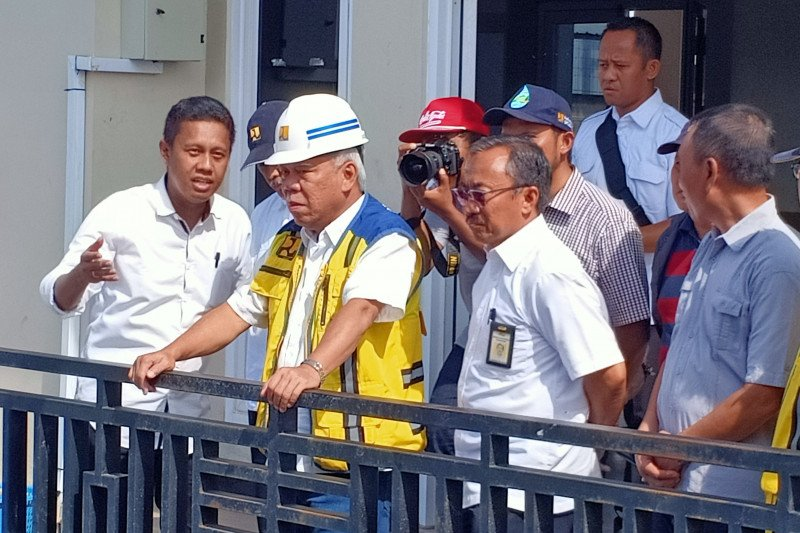Menteri PUPR minta lima pompa Kali Sringin beroperasi penuh akhir Januari