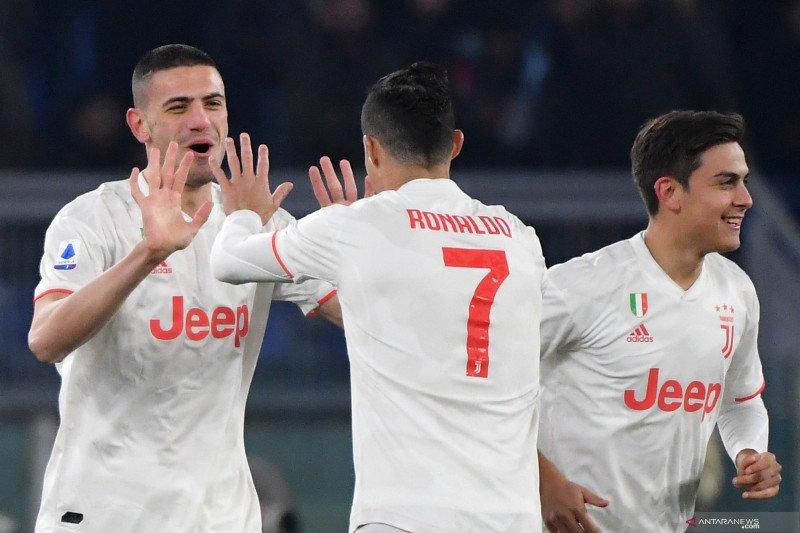Juventus geser Inter untuk puncaki klasemen usai bantai Roma