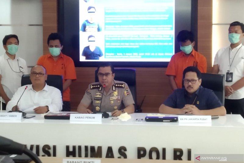 Bareskrim ciduk dua tersangka peretas situs PN Jakarta Pusat
